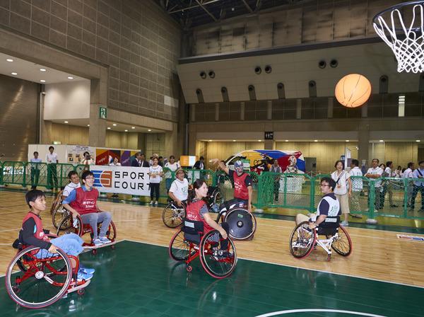 車いすバスケやウィルチェアーラグビーが体験できる「i enjoy ! パラスポーツパーク」開催