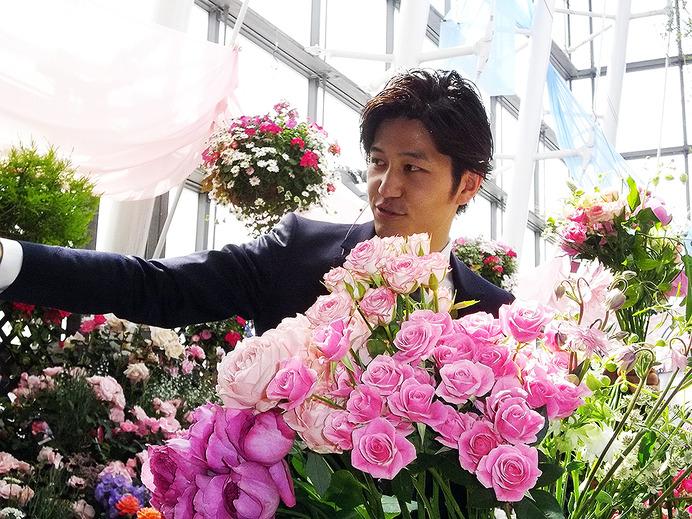 """銀座の空中庭園にバラ園、アスリートも認めるバラ王子の""""花束力""""を見る 5枚目の写真・画像"""