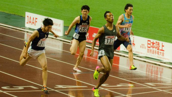 サニブラウン、男子100mを10秒05...