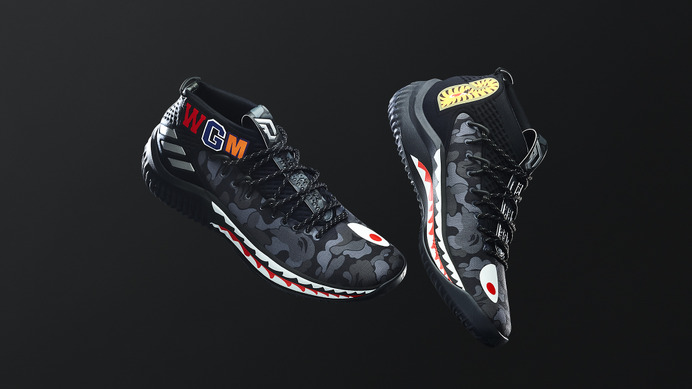 アディダス×ベイプ「adidas Basketball by BAPE DAME 4」発売