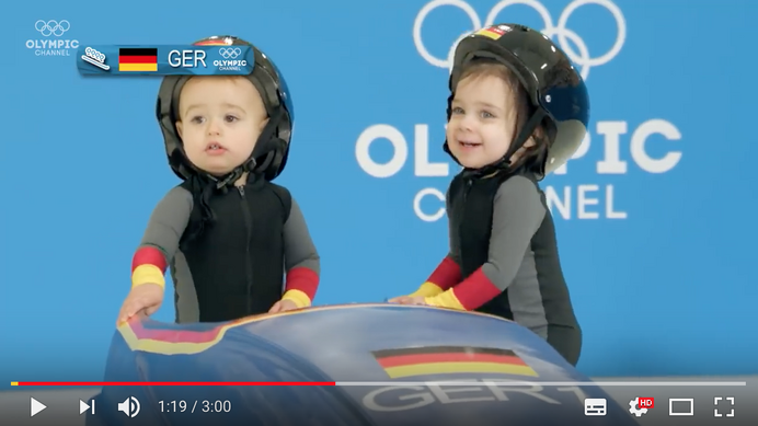Youtube「If Cute Babies Competed in the Winter Games」より