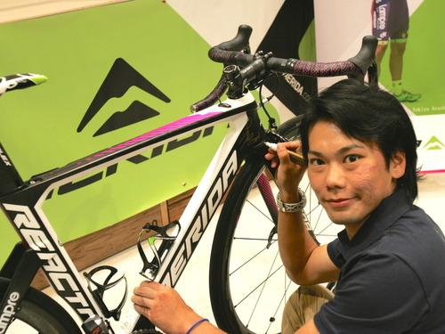 リオ五輪ロード代表・新城幸也、愛車メリダを熊本支援のチャリティーオークションに 画像