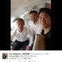 長友佑都、本田圭佑、香川真司のスリーショット…「イタリアへ帰ります!」の画像