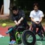 元甲子園球児を招いて車椅子ソフトボール体験練習会実施 画像