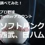 【調べてみた】プロ野球Twitterアカウントを分析!…福岡ソフトバンクホークス、西武ライオンズ、北海道日本ハムファイターズの画像
