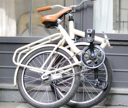 レトロボディを採用したブルーナの折りたたみ自転車