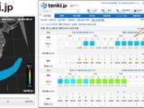 都道府県単位の詳細情報公開をプラス、PM2.5分布予測バージョンアップ 画像