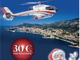 クリスマスはモナコで「サンタクロースのヘリコプター」 5分間で4500円 画像