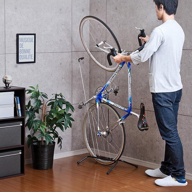 自転車の 自転車の写真 : 室内用の縦置き&横置き自転車 ...