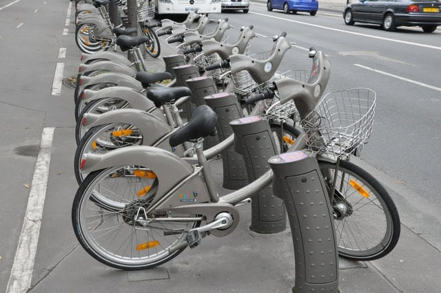 パリの貸し自転車ヴェリブ